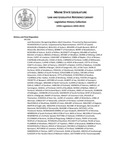 Legislative History:  Joint Resolution Recognizing Maine Adult Education (HP1356)