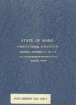 State of Maine Constitutional Convention 1933 by Maine State Legislature