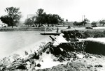 Damage to Dam in Limestone, Maine after Hurricane Edna in 1954