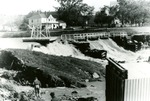 Damage to Dam in Limestone, Maine after Hurricane Edna in 1954 by Frost Memorial Library, Limestone, Maine