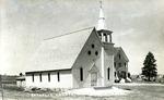 Postcard of First Catholic Church, Limestone, Maine