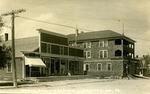 Postcard of Phair Block & Ward Garage, Limestone, Maine, ca. 1920