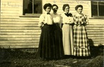 Four Teachers in Limestone, Maine, ca. 1909 by Frost Memorial Library, Limestone, Maine