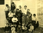 Students of Limestone School, ca. 1909 by Frost Memorial Library, Limestone, Maine