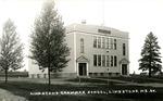 Postcard of Limestone Grammar School, Limestone, Maine by Frost Memorial Library, Limestone, Maine