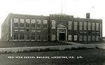Postcard of New High School Building, Limestone, Maine