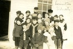 Students of Limestone School, Limestone, Maine, ca. 1909 by Frost Memorial Library, Limestone, Maine