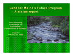 Land for Maine's Future Program - A Status Report (2004 Biennial Report)