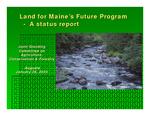 Land for Maine's Future Program - A Status Report (2004 Biennial Report) by Land for Maine's Future