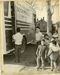 Children on Indian Island Maine Visit a Maine State Library Bookmobile