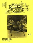 Maine Running & Outing Magazine Vol. 7 No. 9 September 1986 by Robert E. Booker