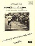 Maine Running Vol. 2 No. 12 December 1981 by Robert E. Booker