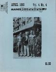 Maine Running Vol. 4 No. 4 April 1983 by Robert E. Booker
