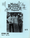 Maine Running & Outing Magazine Vol. 7 No. 10 October 1986 by Robert E. Booker