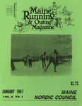 Maine Running & Outing Magazine Vol. 8 No. 1 January 1987 by Robert E. Booker