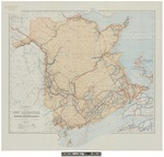 Map of New Brunswick Indicating Motor Roads and Recreational Resources 1925 by Canada Dept. of the Interior