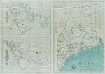 Maine State Map by Federal Writers' Project and Works Progress Administration
