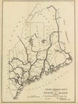 State Highway Dept Map of State of Maine Showing Tentative System of Trunk Lines, Jan. 1910 by Maine State Highway Commission