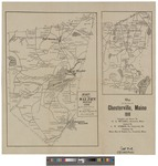 Map of the Town of Chesterville, Maine in 1910 by Harry Edward Mitchell and C. W. Robbins