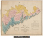 Map of the Inhabited Part of the State of Maine 1829 by Moses Greenleaf