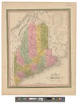 A new map of Maine 1840 by Henry Schenck Tanner