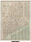 Official Map of Maine 1915 by National Survey Company.