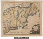 Nova Anglia Septentrionali Americae Implantata Anglorumque Coloniis Florentissima by Johann Baptist Homann
