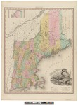 Map of the States of Maine, New Hampshire, Vermont, Massachusetts, Connecticut & Rhode Island by Henry Schenck Tanner