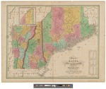 Map of Maine, New Hampshire and Vermont 1820 by David H. Vance