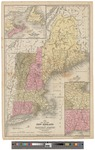 Map of the New England or Eastern States 1844 by Samuel Augustus Mitchell