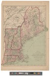 Map of Maine, New Hampshire, Vermont, Massachusetts, Rhode Island and Connecticut 1873
