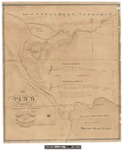 Plan and Profiles of the Proposed Seboomook Sluiceway 1839 by William Anson