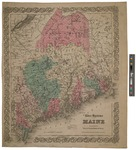 River Systems of Maine by G.W. & C.B. Colton & Co and J.H. Colton & Co