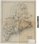 Railroad Map of Maine 1895 by J.H. Stuart & Co.