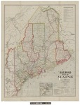 Railroad Map of Maine. by George F. Cram Co