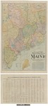 Scarborough's Complete Road Map of Southwest Maine 1905 by Scarborough Compamy