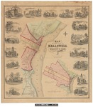 Map of the City of Hallowell, Kennebec County 1855 by D. S. Osborn
