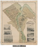 Map of Rumford Falls, Maine 1894 by Rumsford Falls Power Co
