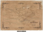 Map of Waterville 1853 by Presdee & Edwards