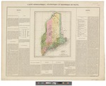 Carte Geographique, Statstique et Historique du Maine by Jean Alexandre C. Buchon