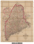 Map of the State of Maine 1889 by Colby & Stuart