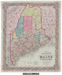 Colton's Railroad & Township Map of the State of Maine 1855 by G. Woolworth Colton