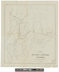 Map of the Proposed Kennebec and Wiscasset Railroad 1872 by A. W. Wildes