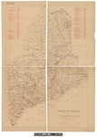 State of Maine Electrical Transmission Map 1922 by H. F. Hassan and United State Geological Survey