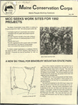 Maine Conservation Corps Newsletter, Fall 1991