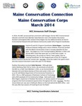 Maine Conservation Connection, March 2014 by Maine Conservation Corps