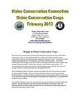 Maine Conservation Connection, February 2013 by Maine Conservation Corps