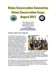 Maine Conservation Connection, August 2013 by Maine Conservation Corps