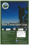 Maine Conservation Corps 2015 Recruitment Poster by Maine Conservation Corps