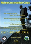 Maine Conservation Corps Recruitment Poster, 2009 by Maine Conservation Corps